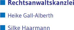 Rechtsanwaltskanzlei Gall-Alberth | Haarmann Augsburg Logo